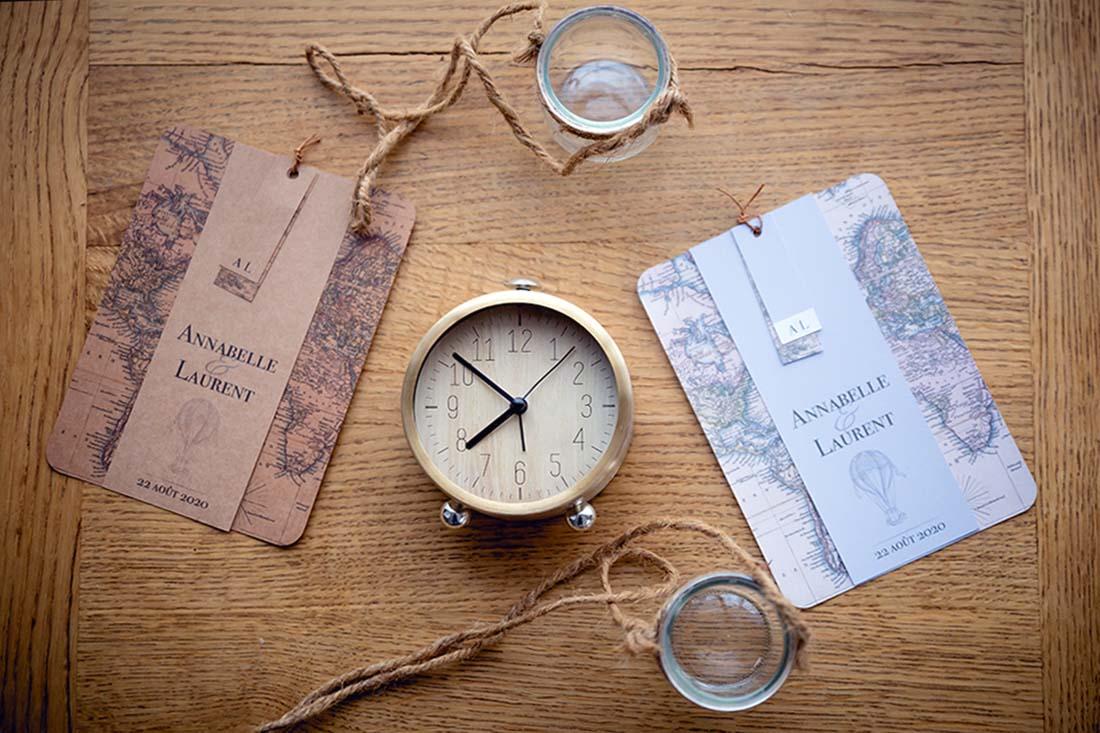 collection faire-part voyage dans le temps