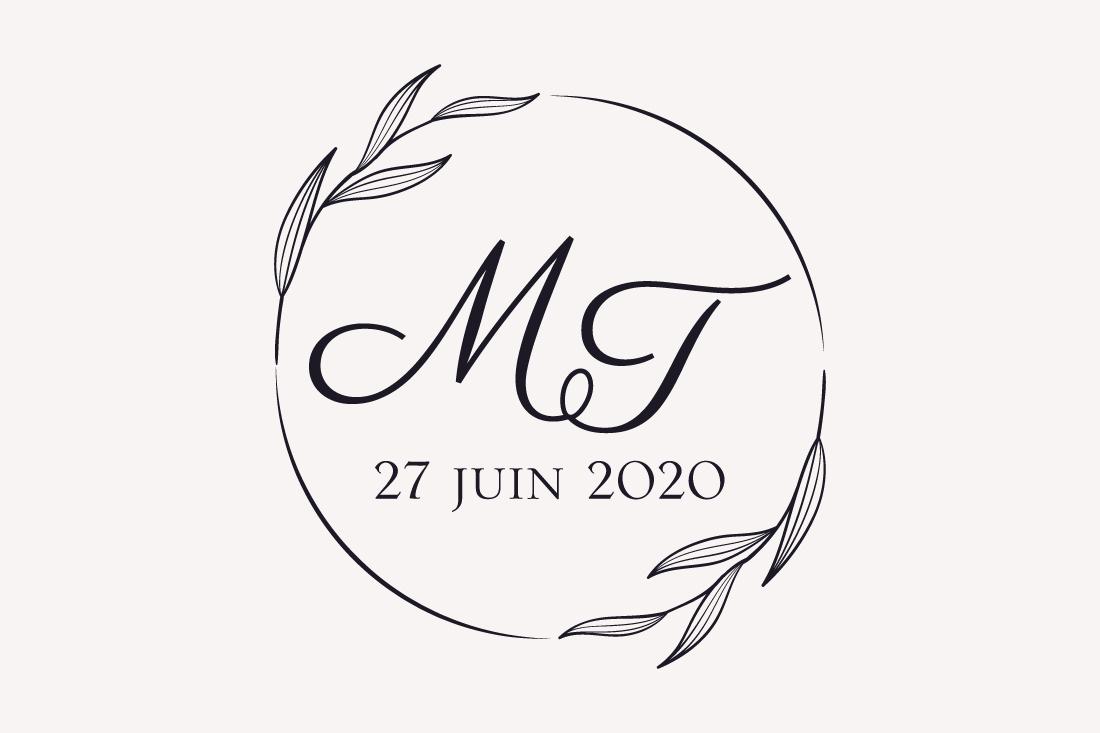 création logo mariage