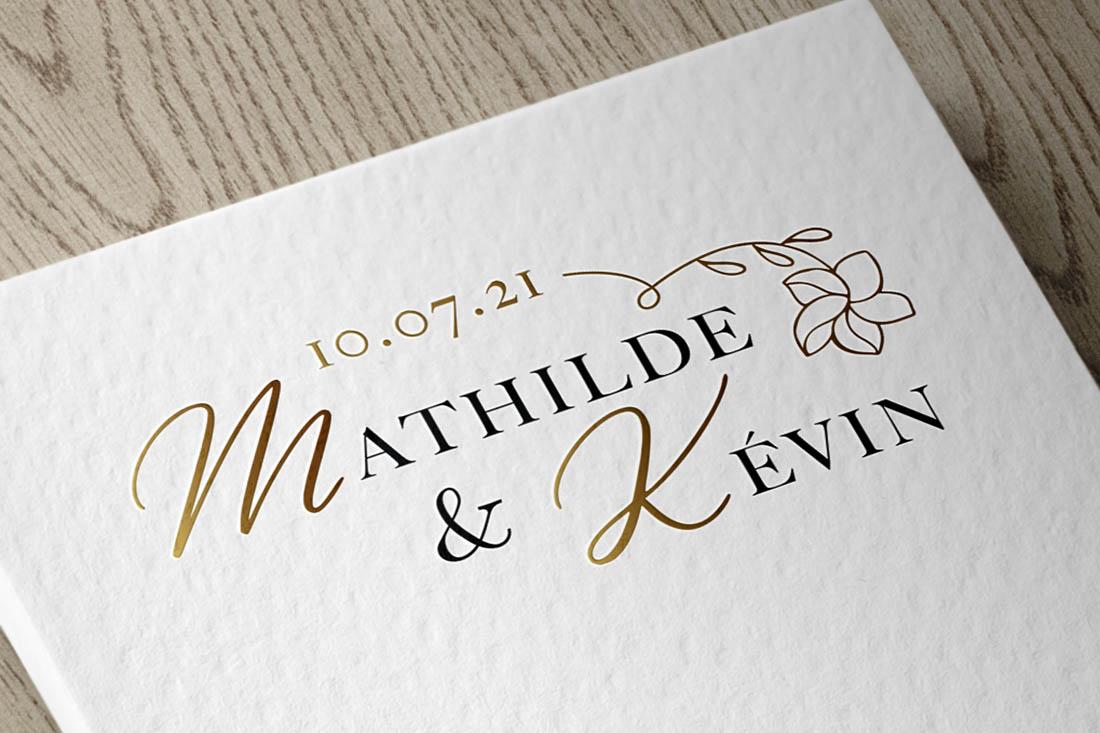 logo de mariage avec dorure