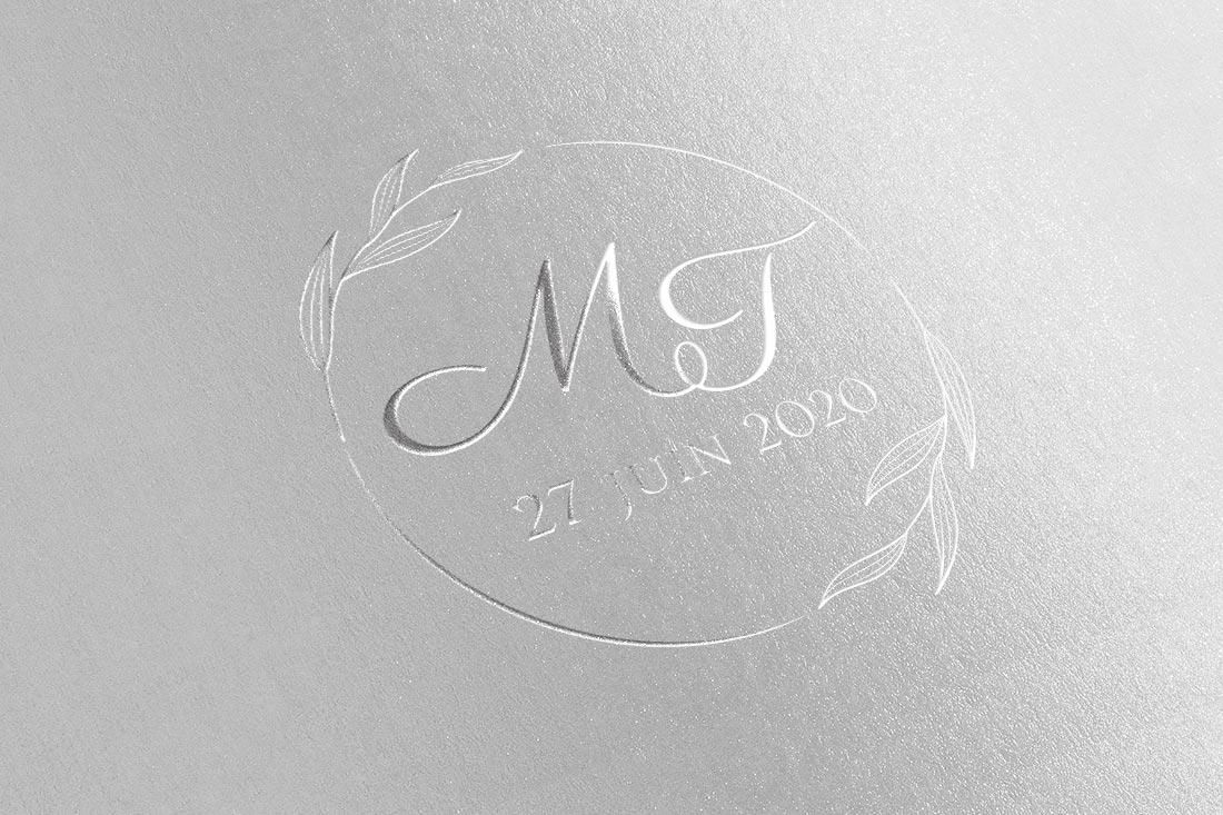 logo mariage dorure