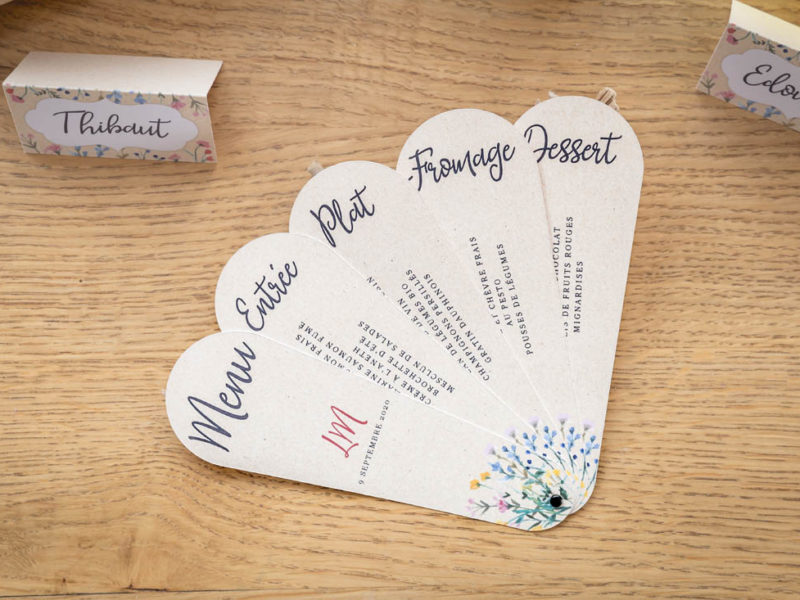 menu fêtes mariage
