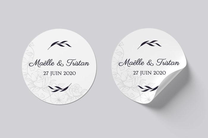 stickers mariage élégant