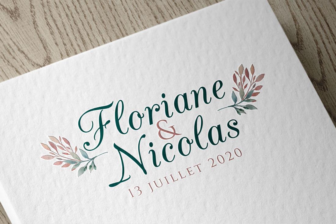 logo des mariés floral