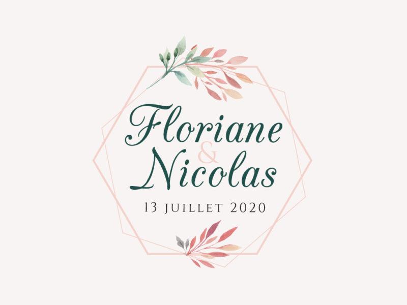 logo mariage floral
