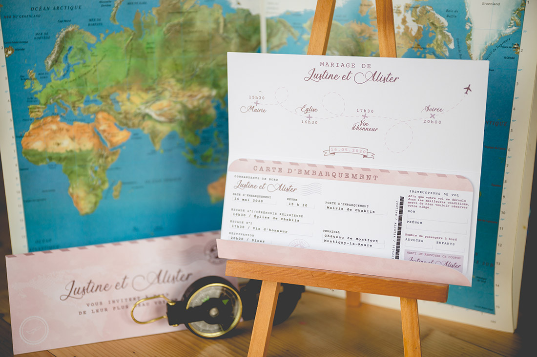 faire-part boarding pass
