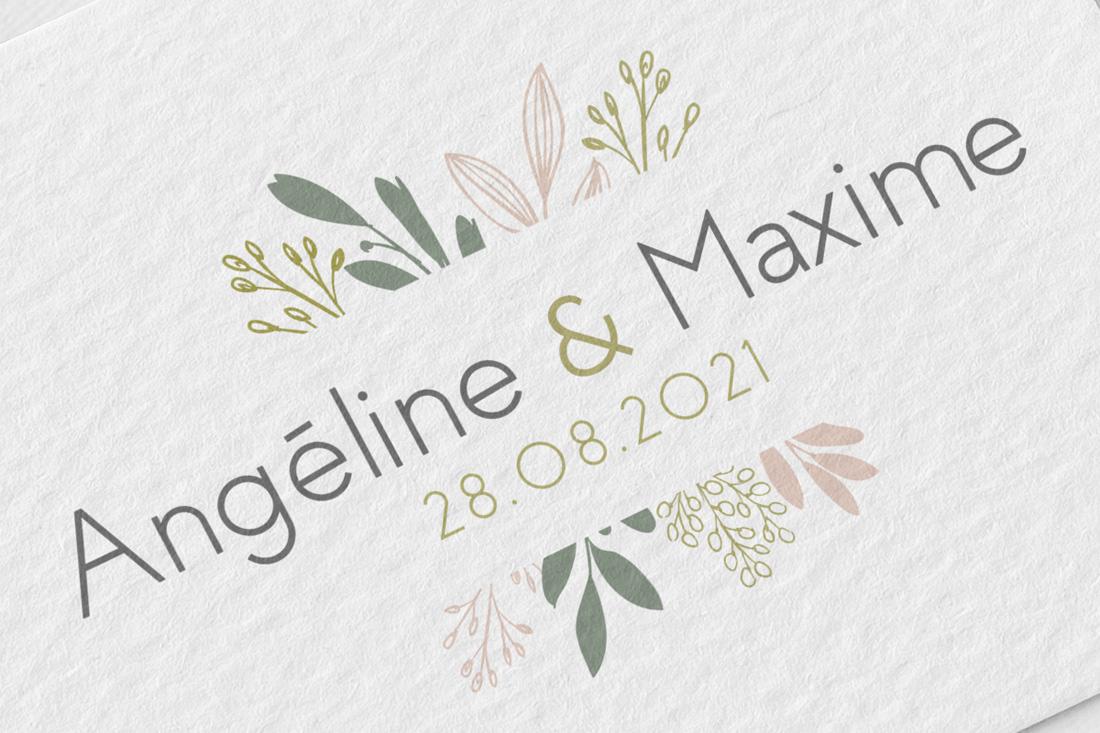 logo de mariage feuille