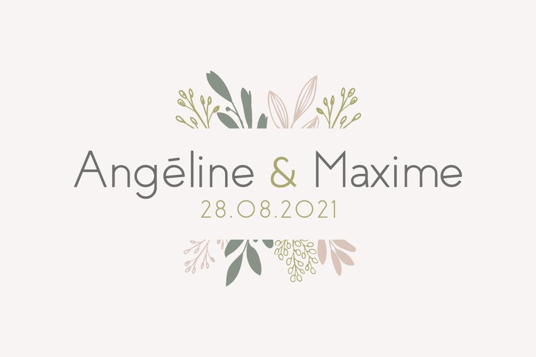 logo mariage feuille