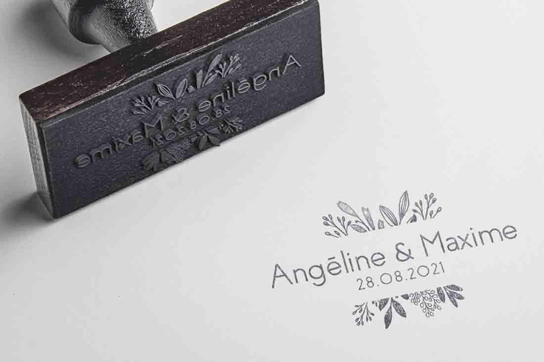 logo mariage tampon