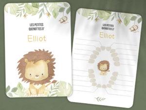 carte pour dent bebe lion savane