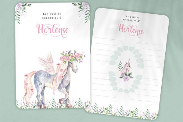 carte quenottes dent licorne poney
